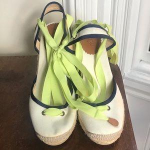 """JCrew wedge (3.75"""" heel) sandals- Sz8"""